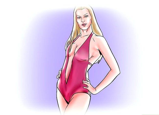 Prent getiteld Word `n Bikini Model Stap 4