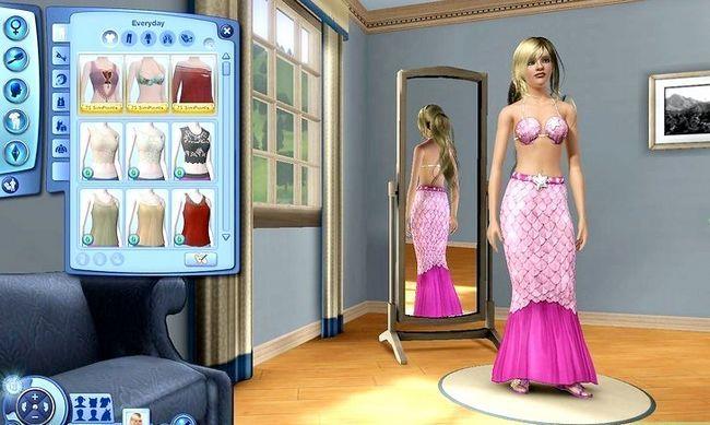 Prent getiteld Word `n Meermin in Sims 3 Eiland Paradys Stap 10