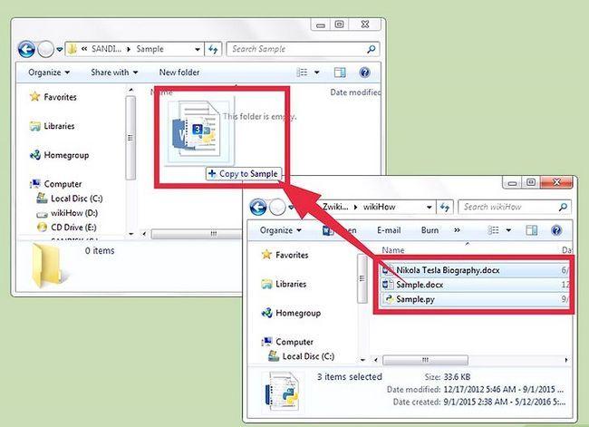 Prentjie kopieer dokumente na `n USB-stick vanaf u rekenaar Stap 4