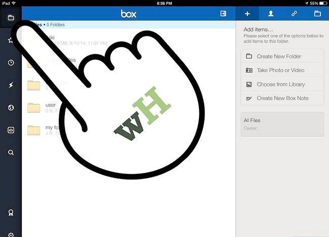 Prent titel Kopieer of skuif lêers in vak op iOS Stap 10