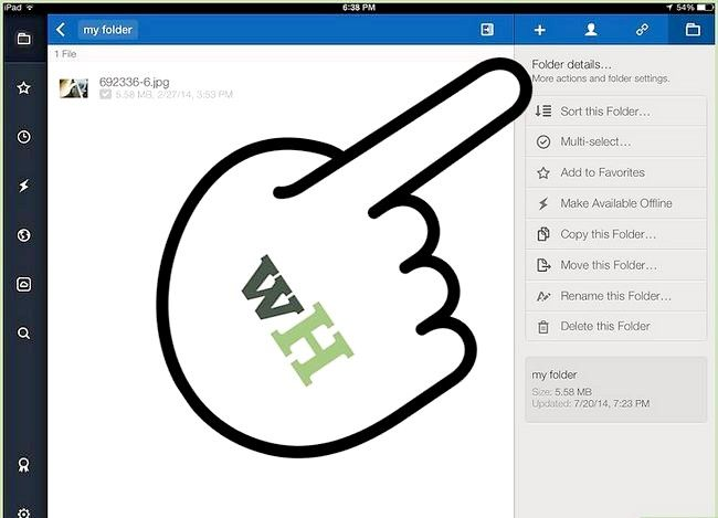 Prent titel Kopieer of skuif lêers in vak op iOS Stap 12