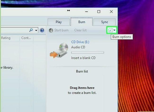 Prent titel Kopieer of brand na CD Gebruik Windows Media Player Stap 7