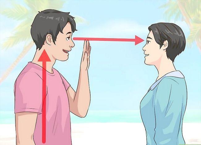 Prent getiteld Flirt With A Girl Stap 1