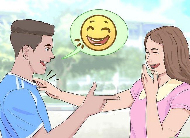 Prent getiteld Flirt With A Girl Stap 4