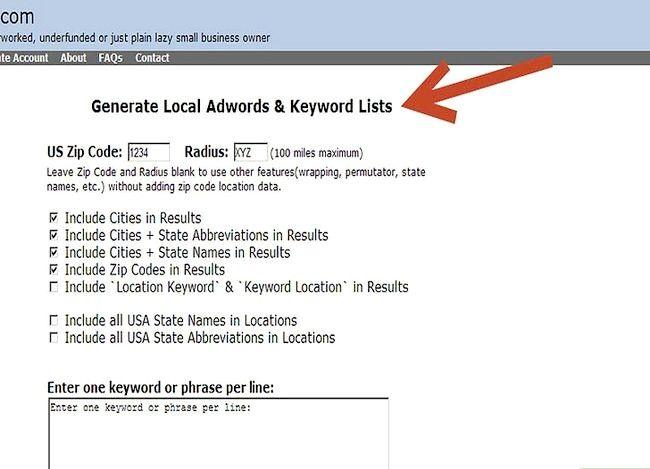 Beeld getiteld advertensie veldtogte vir betaal per klik (PPC) vir `n plaaslike maatskappy Stap 4
