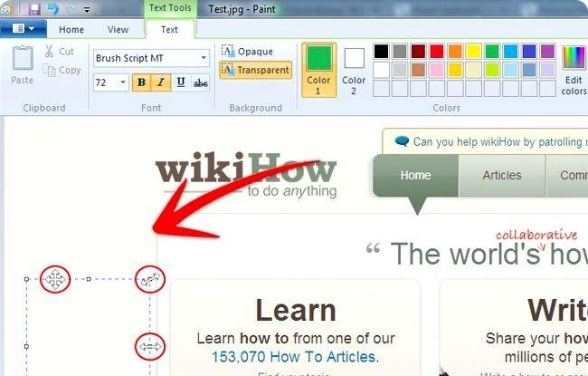 Prent getiteld Skep annotated Screenshots Gebruik Windows Paint Stap 8