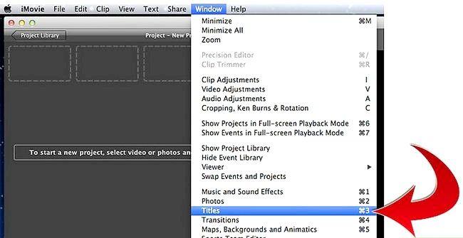 Prent getiteld Credits maak in iMovie Stap 2