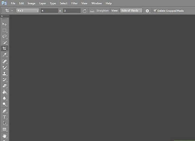Prent getiteld Skep agtergronde in Adobe Photoshop Stap 1