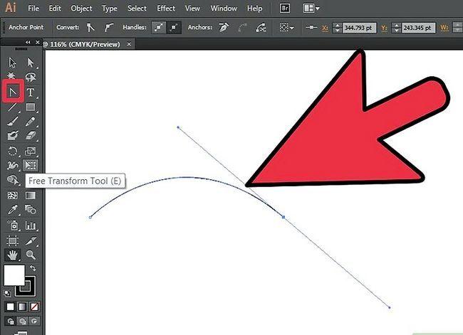 Prent getiteld Skep teks op `n pad in Adobe Illustrator Stap 1
