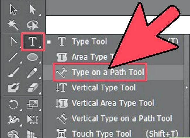 Prent getiteld Skep teks op `n pad in Adobe Illustrator Stap 2