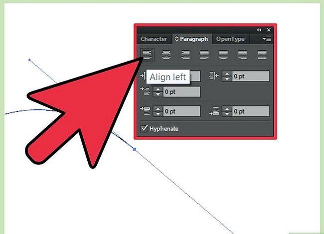Prent getiteld Skep teks op `n pad in Adobe Illustrator Stap 3
