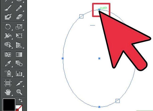 Prent getiteld Skep teks op `n pad in Adobe Illustrator Stap 8