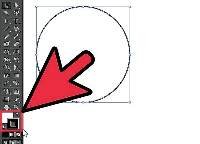 Prent getiteld Skep `n sirkel in Adobe Illustrator Stap 4