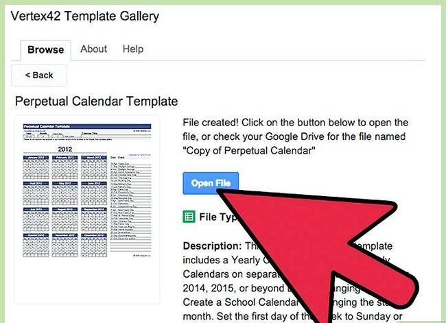Prent getiteld Skep `n kalender in Google Docs Stap 20
