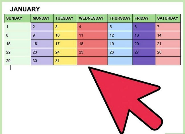 Prent getiteld Skep `n kalender in Google Docs Stap 9