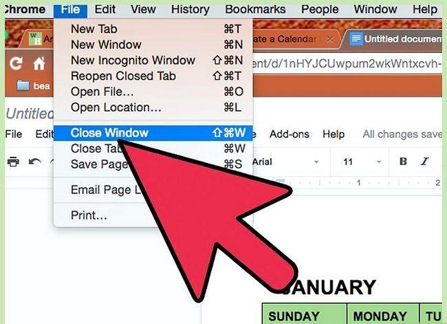 Prent getiteld Skep `n agenda in Google Docs Stap 10