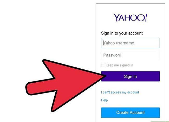 Prent getiteld Skep `n filter in Yahoo! Mail Stap 1