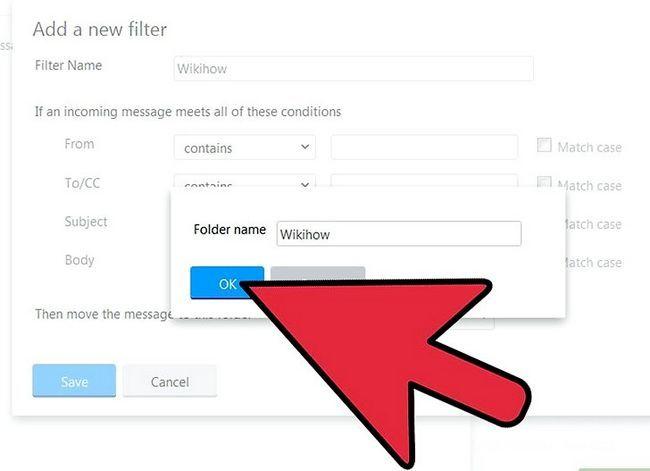Prent getiteld Skep `n filter in Yahoo! Mail Stap 11