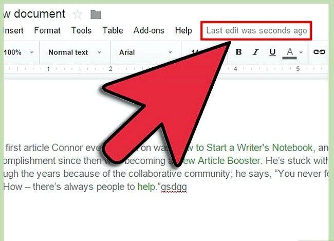 Prent getiteld Maak `n Google Doc Stap 17