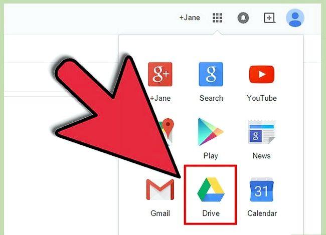 Prent getiteld Maak `n Google Doc Stap 5