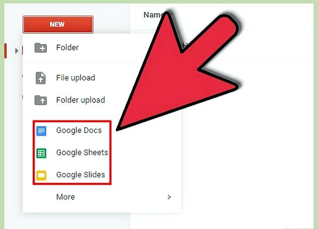 Prent getiteld Maak `n Google Doc Stap 8