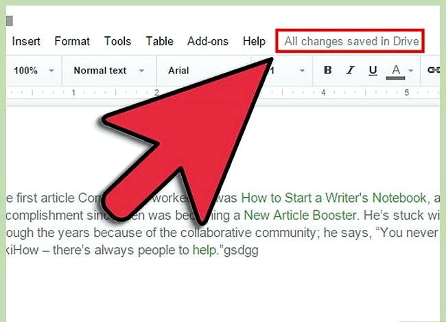 Prent getiteld Maak `n Google Doc Stap 10