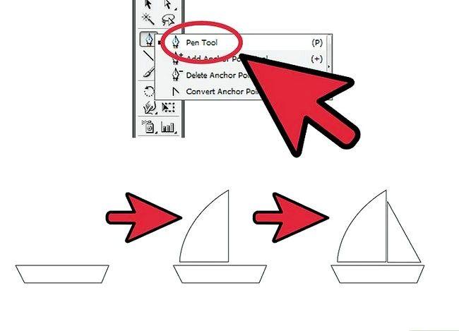 Prent getiteld `n oseaan maak Gebruik Adobe Illustrator Stap 8