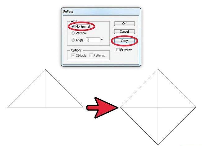 Prent getiteld Skep `n patroon in Adobe Illustrator Stap 4