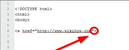 Beeld getiteld Maak `n prent skakel in HTML Stap 5