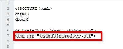 Beeld getiteld Maak `n prent skakel in HTML Stap 6
