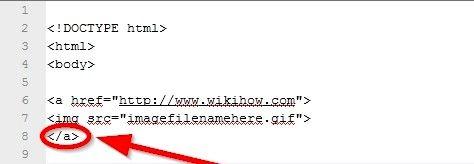 Beeld getiteld Maak `n prent skakel in HTML Stap 7