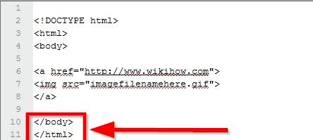Beeld getiteld Maak `n prent skakel in HTML Stap 8