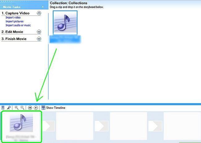 Prent getiteld Skep lirieke video`s vir YouTube met behulp van Windows Movie Maker Stap 5