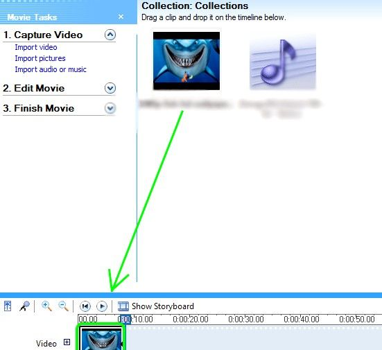 Prent getiteld Skep lirieke video`s vir YouTube met behulp van Windows Movie Maker Stap 7