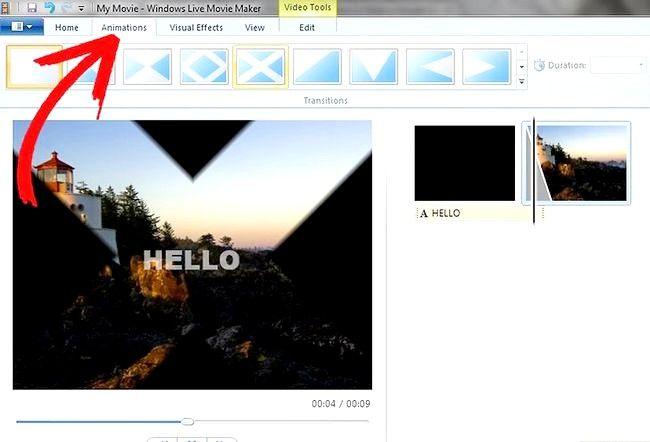 Prent getiteld Maak `n eenvoudige video in Windows Live Movie Maker Stap 6