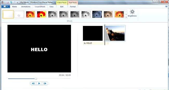 Prent getiteld Maak `n eenvoudige video in Windows Live Movie Maker Stap 7