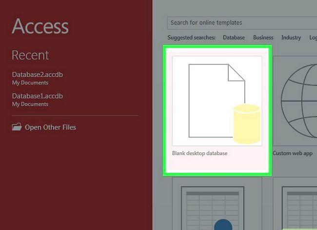 Prent getiteld Skep `n databasis uit `n Excel Spreadsheet Stap 1