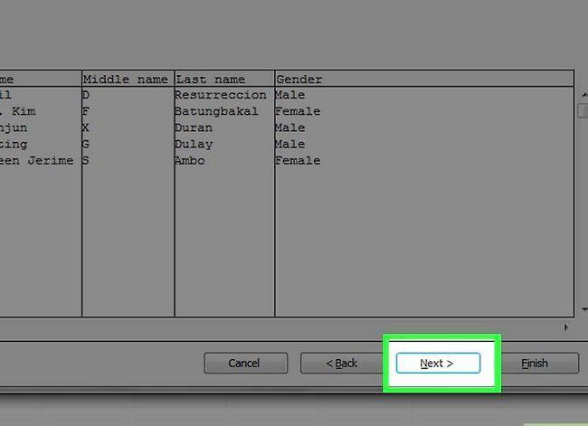Prent getiteld `n databasis maak vanaf `n Excel Spreadsheet Stap 11