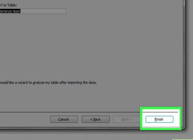 Prent getiteld `n databasis maak vanaf `n Excel Spreadsheet Stap 16