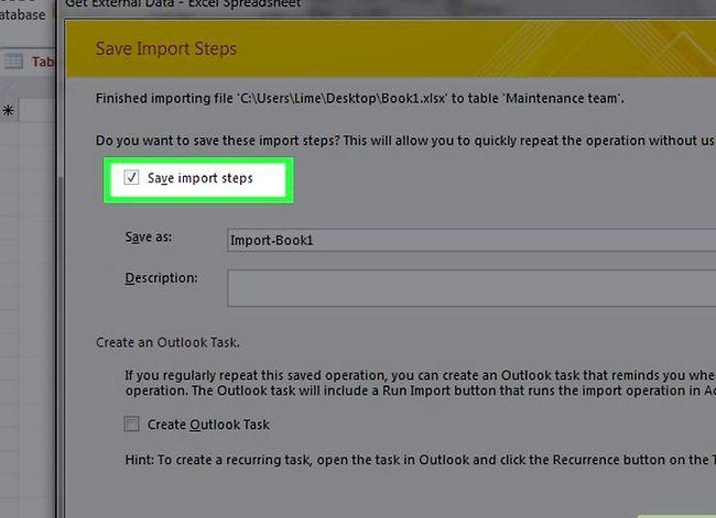 Prent getiteld `n databasis maak vanaf `n Excel Spreadsheet Stap 17