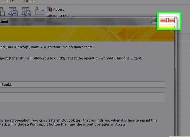 Prent getiteld `n databasis maak vanaf `n Excel Spreadsheet Stap 18
