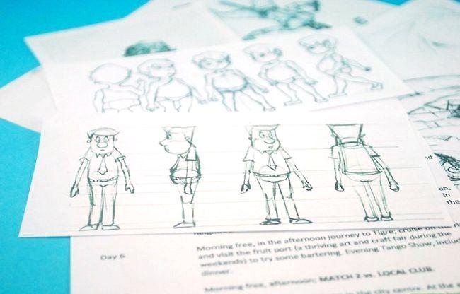 Prent getiteld Skep `n goeie animasie film Stap 1