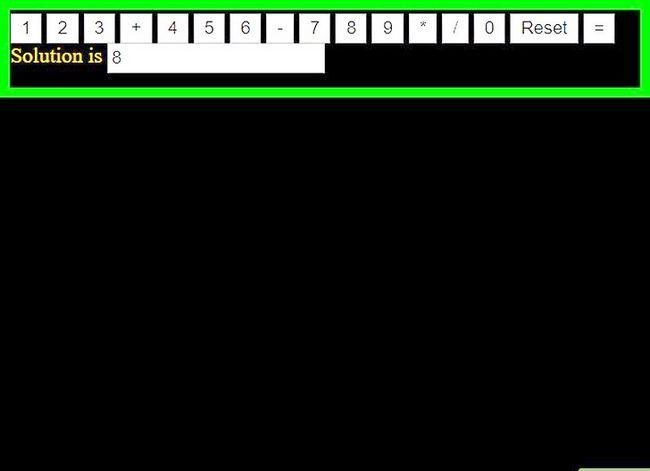 Prent getiteld Skep `n sakrekenaar met behulp van HTML Stap 9