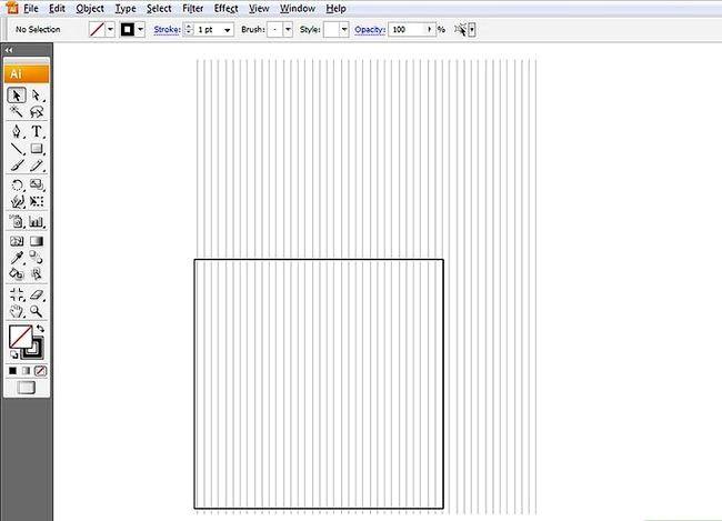 Prent getiteld Skep `n Isometriese Grid in Adobe Illustrator Stap 2