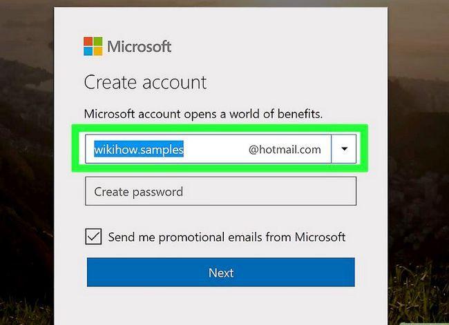 Prent getiteld Skep `n Hotmail-rekening Stap 3