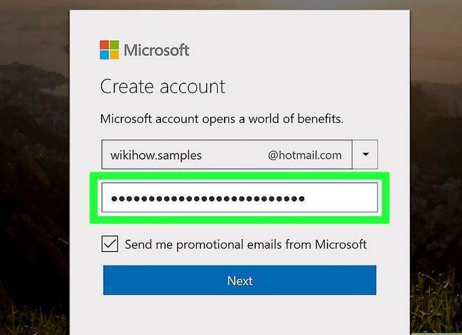 Prent getiteld Skep `n Hotmail-rekening Stap 4