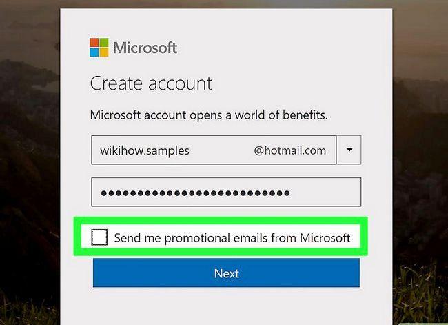 Prent getiteld Skep `n Hotmail-rekening Stap 5