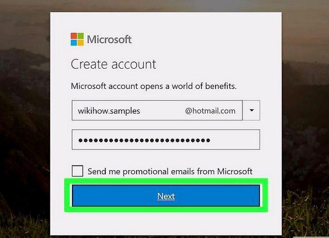 Prent getiteld Skep `n Hotmail-rekening Stap 6