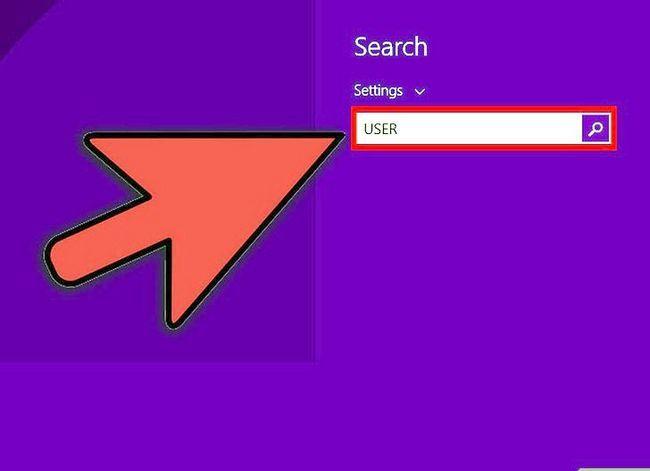 Prent getiteld Maak `n gebruikers rekening `n administrateur in Windows 8 Stap 1