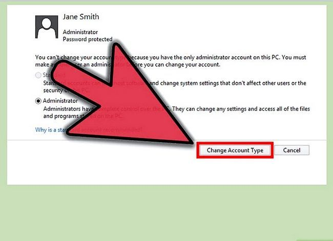 Prent getiteld Maak `n gebruikers rekening `n administrateur in Windows 8 Stap 5